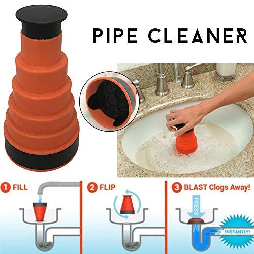 Air Druck Ablauf Pumpe Gewicht Reinigung Tool, WC Kolben Küche Waschbecken Kanalisation Baggers Tool, ideal für die meisten Kanalisation Rohr
