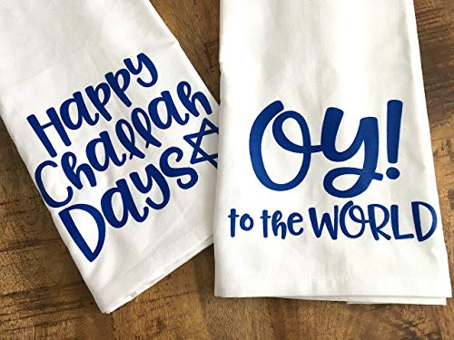 Funny Hanukkah Hostess Towels Jewish Holidays Set of 2