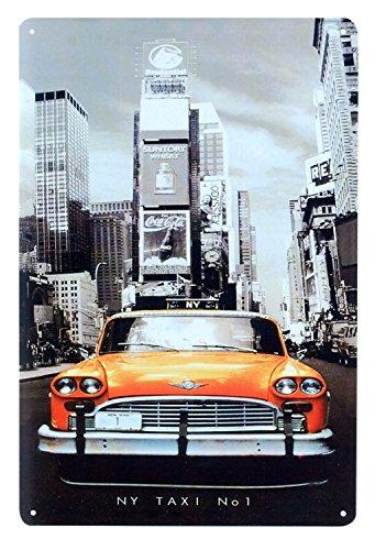 60x170cm, Fond Blanc Sticker Autocollant Frigo Cuisine New York Taxi SAEFR0333