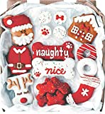 Wüfers Christmas Dog Cookie Treats   Christmas Dog Treats for Small Dogs and Large Dogs   Frosted Dog Bone Biscuits Handmade and Hand-Decorated with Locally Sourced Ingredients