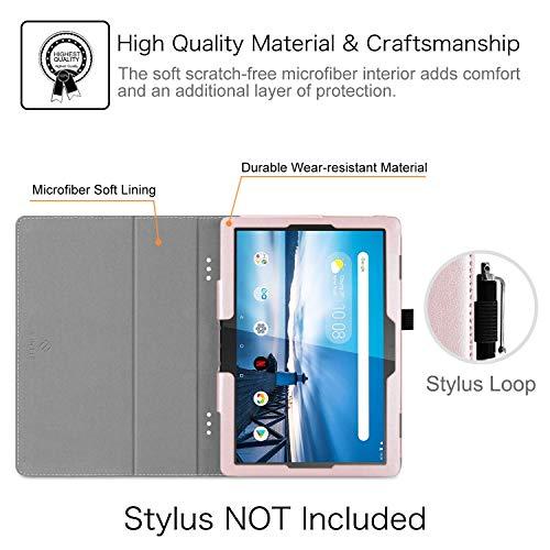 Fintie Hülle für Lenovo Tab M10 (TB-X505L TB-X505F TB-X605L TB-X605F) / P10(TB-X705F) - Folio Kunstleder Schutzhülle mit Standfunktion für Lenovo Smart Tab M10 / P10 (10,1 Zoll) Tablet PC, Roségold