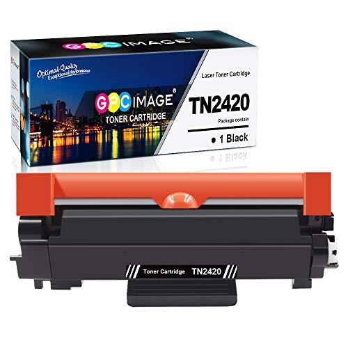 GPC Image TN2420 TN-2420 compatibele tonercartridges Vervanging voor TN2410 TN-2410 voor Brother HL-L2350DW MFC-L2710DW DCP-L2510D DCP-L2530DW HL-L2375DW HL-L2370DN L2310D MFC-L2730DW (Zwart, 1-Pack)