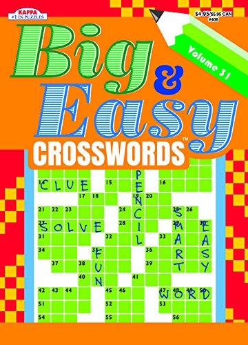 Big & Easy Crosswords Puzzle Book-Volume 31