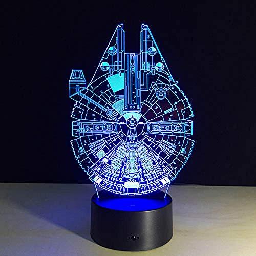 Lampe 3D Todesstern Krieg Bb-8 R2D2 Meister Yoda Darth Vader Usb Multicolor Led Nachttischleuchte Schlafzimmer Haus Geschenke Millenium Falcon Usb Wiederaufladbare Jungen Mädchen Geschenke Dekor Für B