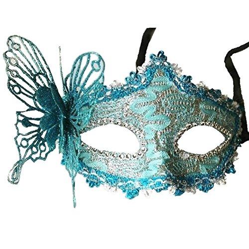 TOOGOO Frauen Reizvolle Maske venezianische Maskerade Party Kugel Karneval Gesichtsmaske, Augenmaske (blau)