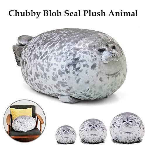 DLRB Chubby Blob Seal Plüschtier Spielzeug niedlichen Ozean Kissen Haustier gefüllte Puppe Kinder Geschenk (A, 40CM)