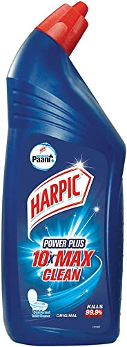 Harpic powerplus 10x max clean disinfectant toilet cleaner,original kills 99.9% -1L