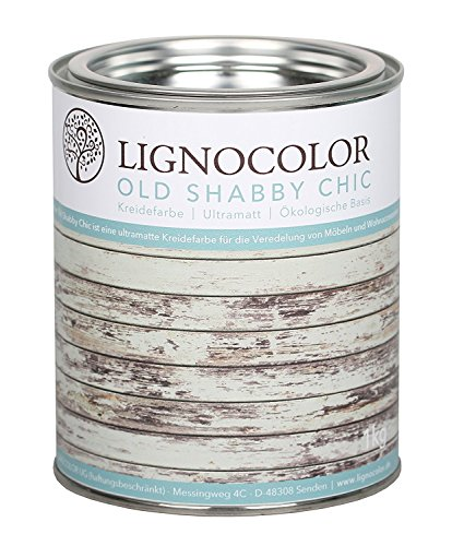 Kreidefarbe Shabby Chic Lack Landhaus Stil Vintage Look 1kg (Limpet Shell)