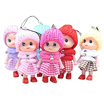 5Pcs Kids Toys Soft Interactive Baby Dolls Toy Mini Doll For Girls and Boys Hot Raptop  colorful