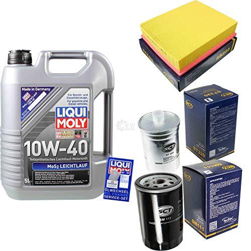 QR-Parts Set 85491175 SB 22 1092 ST 320 SM 111 5 L de aceite de baja fricción Liqui Moly MoS2 10W-40 + paquete de filtros SCT-Germany 11251191