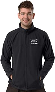 Personalised/Embroidered Black Softshell Jacket Size S-8XL