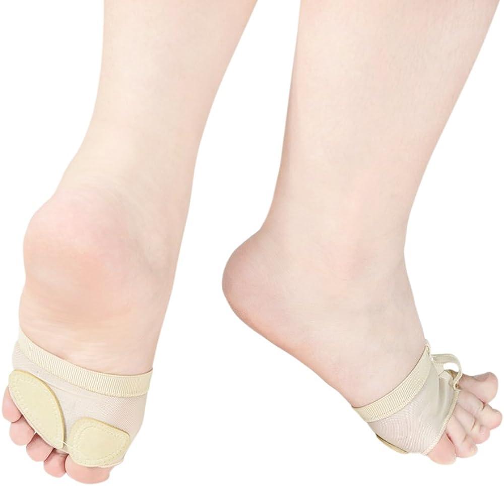 MiDee Toes Thong Half Sole Dance Shoes Lyrical Dancing Feet Pad