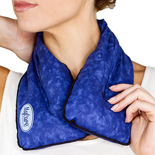 MyCare Neck Warmer Microwavable Heating Pad for Neck Pain - Neck Wrap for Pain Relief - Heat pack to relieve pain in sore neck, arthritis, sore muscles or cramps - Made in the USA with Care