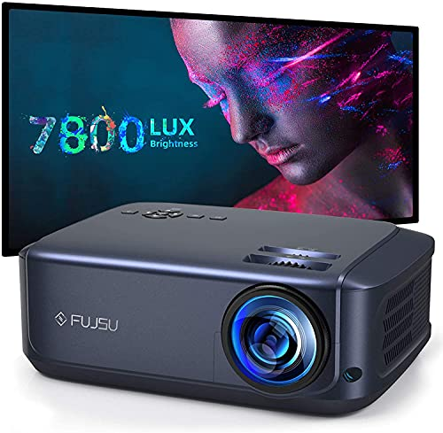 Projector, FUJSU 1080P Video Projectors for Full HD Movie Projector for Home Theater, Used for Office Compatible with Laptop, Smartphone, HDMI, Fire TV Stick, PS4, USB