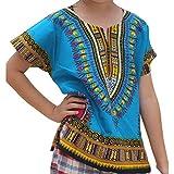 Tyoby Mädchenrock Ethnischer Stil, Individualität, farbenfrohe schöne Langer Rock(Blau,100)