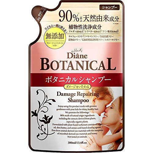 Moist Diane Botanical Hair Shampoo 380ml - Damage Repairing - Refill (Green Tea Set)