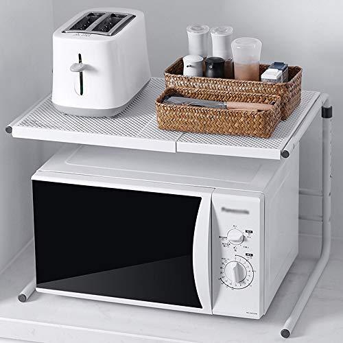 Microondas Estante Cocina Microondas Bastidores de cocina de acero Horno Horno de almacenamiento en rack inoxidable 60x40x53cm Rejilla del Horno para cocinas ( Color : White , Size : 60 x 40 x 53cm )