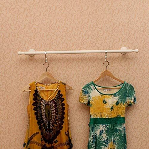 Grandes ganchos de abrigo, Montado en la pared barra de colgar ropa tienda de exhibición del colgante de la Mujer 's tienda de ropa colgar la ropa Bastidores infantil Ropa Bastidores (Color: Blanco, T