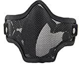 WorldShopping4U respirante Tactical Paintball Métal Mesh militaire Squelette Demi Visage Masque de protection Airsoft...