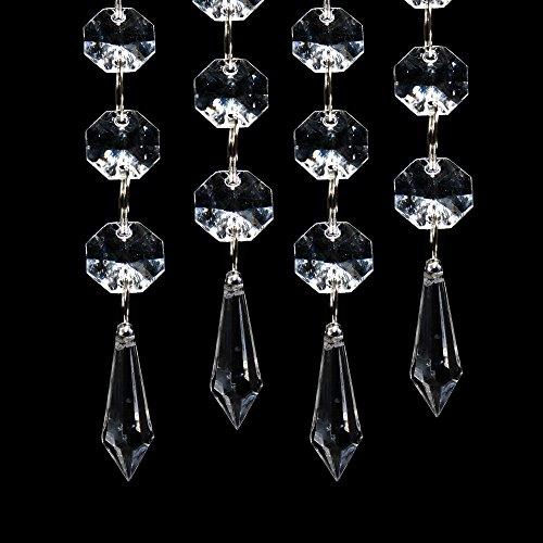 XCSOURCE 30PCS Acrylic Crystal Clear Garland Hanging Bead Curtain Wedding Club Party Decoration WV220