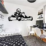 Carreras pegatinas de pared para habitación de niños pegatinas de pared calcomanías de vinilo dormitorio decoración del hogar carreras adolescentes adolescentes niños