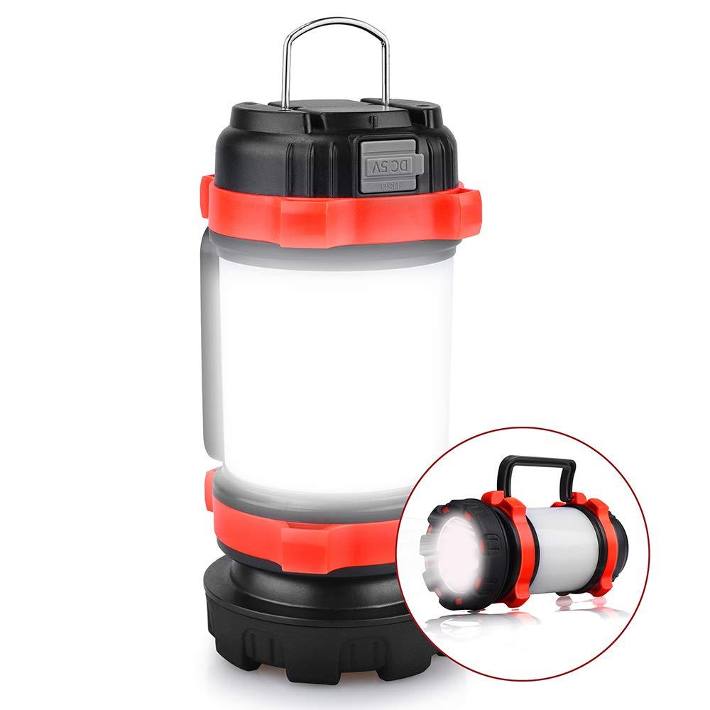 YIERBLUE Rechargeable Waterproof Flashlights Multifunctional
