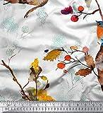 Soimoi Weiß japanischer Kreppsatin Stoff Baum & Robin