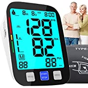 VERYCOZY Blood Pressure Monitor, Automatic Blood Pressure Cuff Upper Arm with Large Cuff 22-42cm, 2X90 Memory, Blood Pressure Machine Digital Bp Monitor Pulse Rate for 2 User Home Personal Use