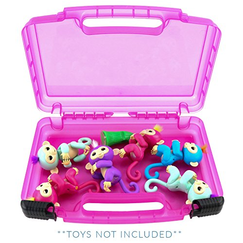 Life Made Better Fingerlings Monkeys Case, Toy Storage Carrying Box. Accessories For Kids by LMB