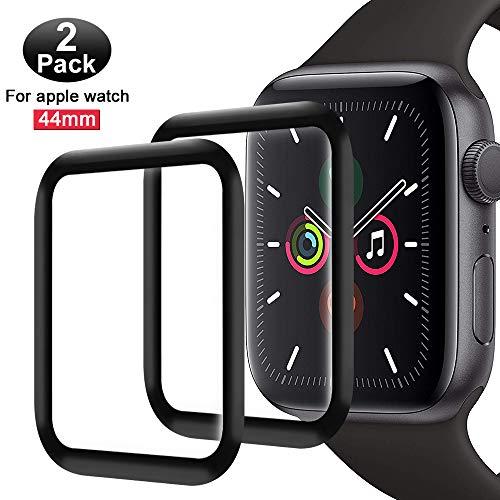 FANIER Protector Pantalla para Apple Watch 44mm Serie 5/4 Cristal Templado [Alta sensibilidad] para Suave Protector para Apple Watch Series 4 / Series 5 44mm [2 Piezas]