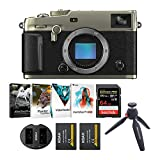 Fujifilm X-PRO3 Mirrorless Camera Body (Dura Silver) with 64GB Pro Card, Corel Suite v.3.0 and Essential Accessories Bundle (5 Items)