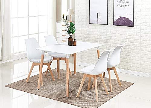 Conjunto de mesa retro y moderno con 4 tabletas para la sala de estar de la cocina,B