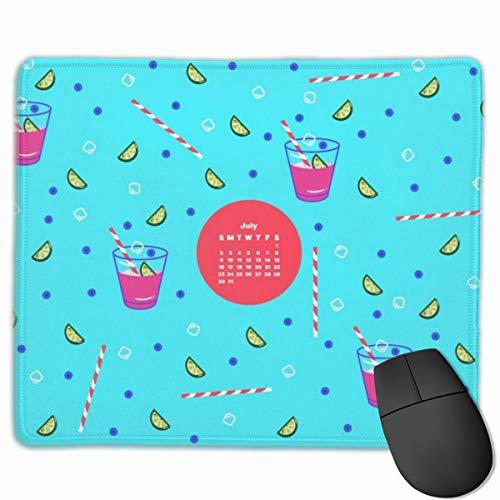 Limonade rutschfeste einzigartige Designs Gaming Mouse Pad Schwarzes Stoff Rechteck Mousepad Art Naturkautschuk Mausmatte mit genähten Kanten