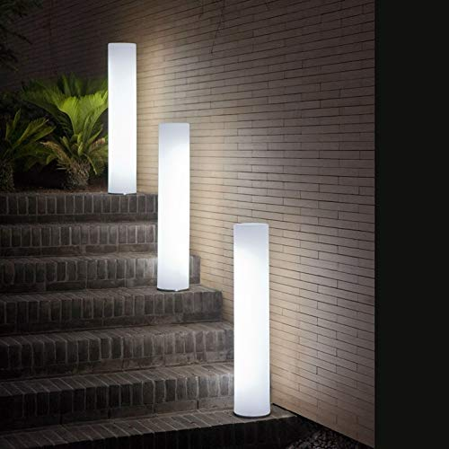 FITY-New Garden - Lámpara de pie para exteriores (LED, con cable de 102 cm), color blanco