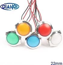 مصباح LED معدني LED 22 مم كروي دائري إشارة مصباح 3 فولت 6 فولت 12 فولت 24 فولت 220 فولت أحمر أخضر أبيض أزرق أصفر 22ZSD.QX.X