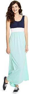 Mossimo Supply Co Women's Blue/Mint Sleveless Maxi Dress