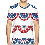 WANGKG 3D Printed T Shirts,Flag Round Bunting Election Ornament Politic Union Ribbon Event Pattern