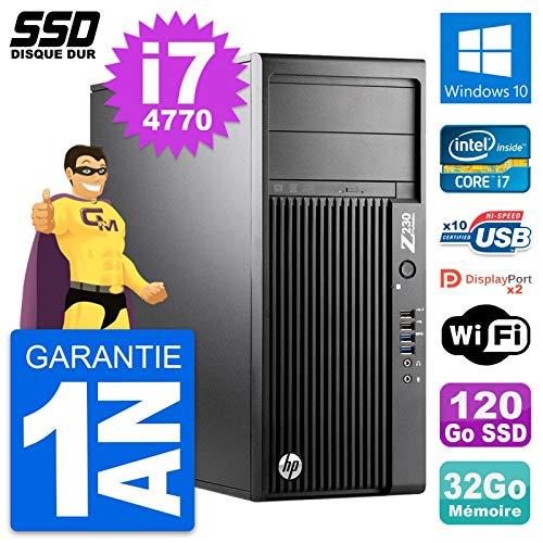 HP PC Tower-Workstation Z230 Core i7-4770 RAM 32 GB SSD 120 GB Windows 10 WLAN (überholt)