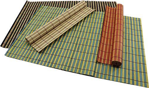 RMB® Lot de 4 Sets de Table en Bambou 4 Couleurs