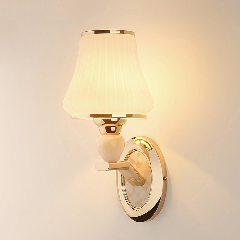 QARYYQ Nachttischlampe Wandleuchte Schlafzimmer modernen minimalistischen Wohnzimmer kreative europische Treppe Kristall LED-Lampen Wandleuchte