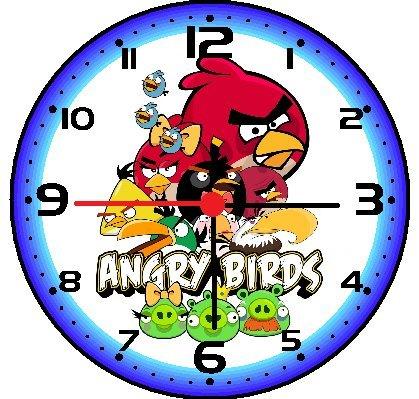 Rusch Angry Birds Wall Decor Clock