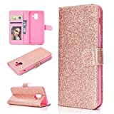 LISUONG MZYD Ayyd for Samsung Galaxy A6 (2018) Poudre de Paillettes Horizontal Horizontal Toam...