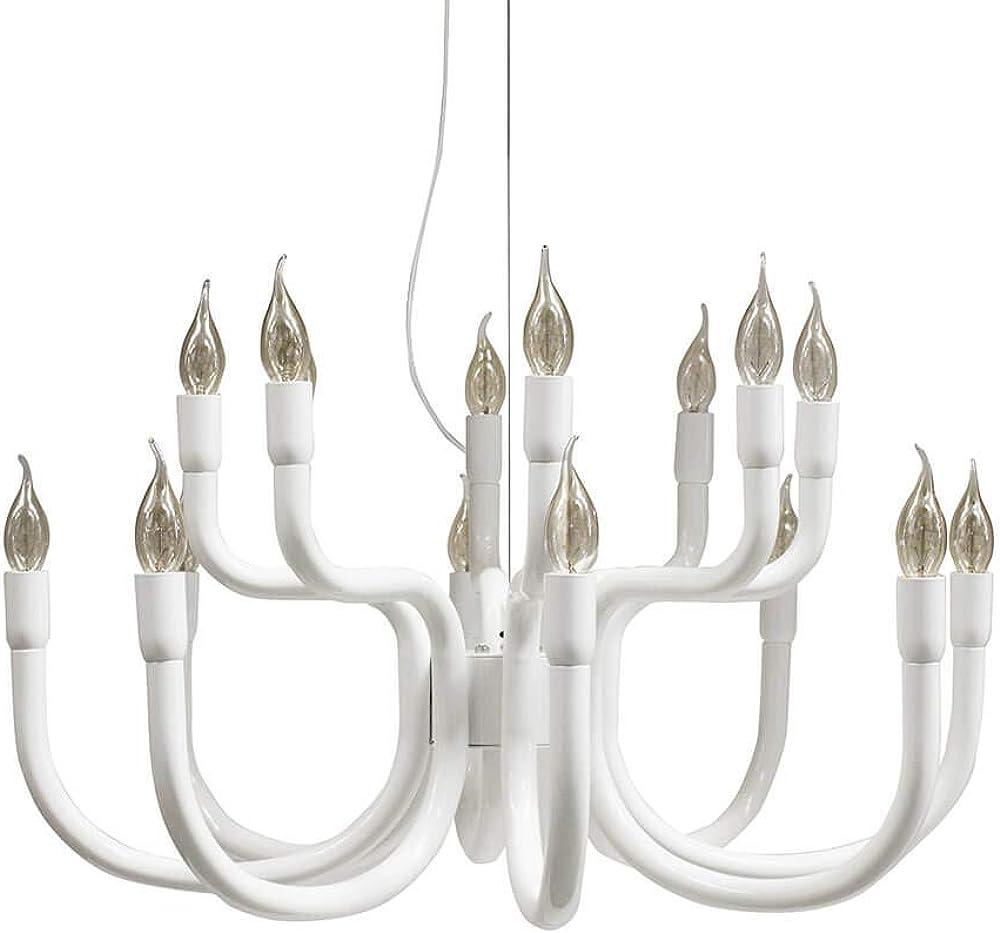 Karman snoob, lampadario con 16 sorgenti luminose, bianco,in alluminio SE610B