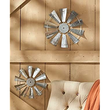 2-Pc. Windmill Wall Decor Sets ( Galvanized )