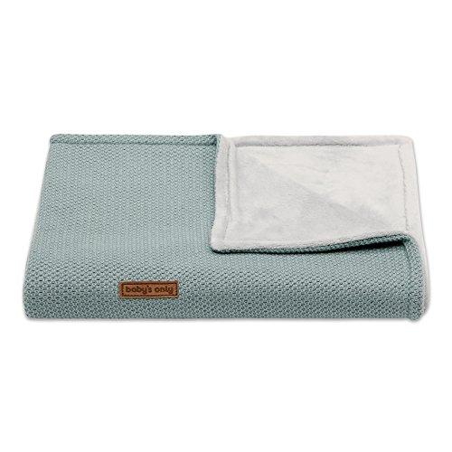 Baby's Only Hochwertige Babydecke für Jungen und Mädchen - ideal als Bett-Decke, Kinderwagendecke sowie Kuscheldecke geeignet - 95 x 70 cm - Stonegreen