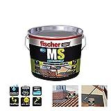 Fischer 534616 Impermeabilizante polímero MS líquido, Marrón/Teja, 1 Kg