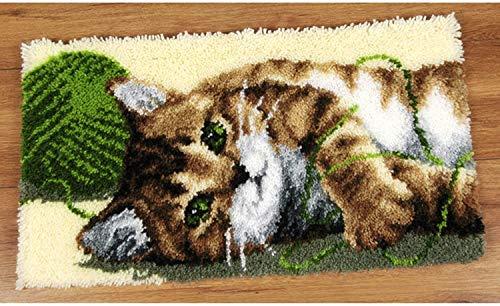 Kit de tapis à crochet pour adultes pour adultes Kids Bricolage Broderie Tapis imprimé avec de la belle toile Crochet Crochet Crochet Croft Shaggy Home Décoration 20.5