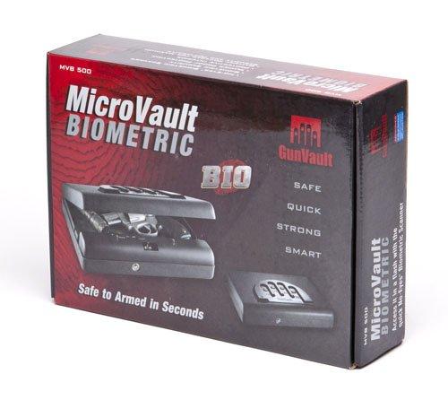 Gunvault MVB500 Microvault Biometric Pistol Gun Safe -