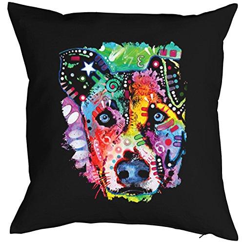 Flipped Dog Pillow, oreiller, almohada, Cuscino Pop Art Style