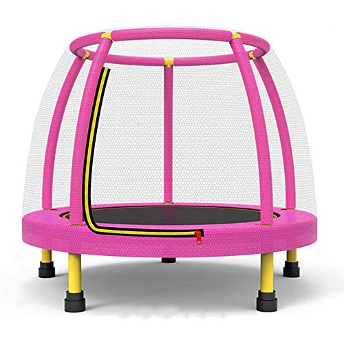 MU Trampolines for Kids 4Ft Trampoline with Safety Net Enclosure Trampoline for Children Jumping Training Indoor Outdoor Activities Max Load 250Kg,Pink